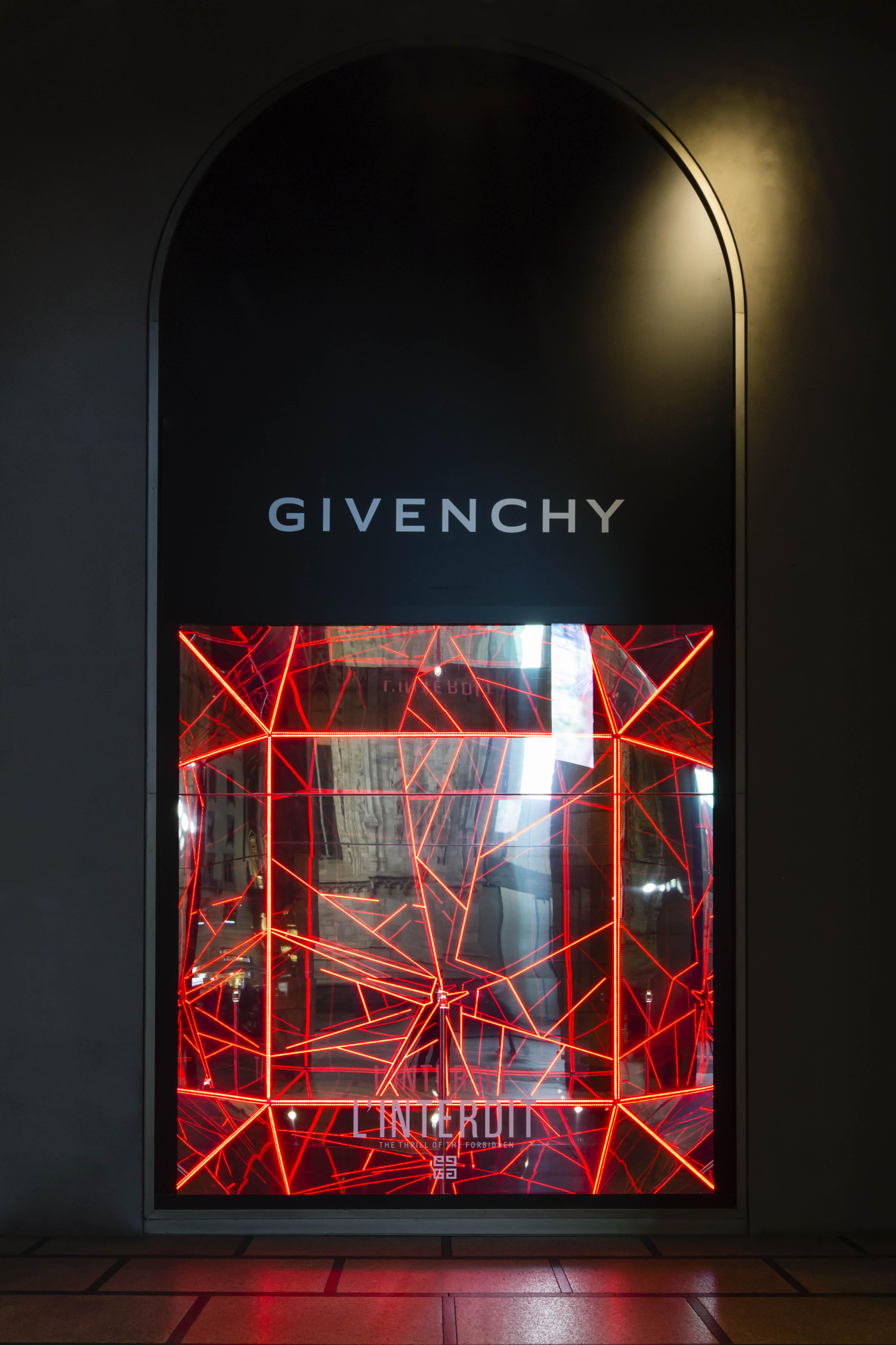Givenchy temporary at La Rinascente Milano