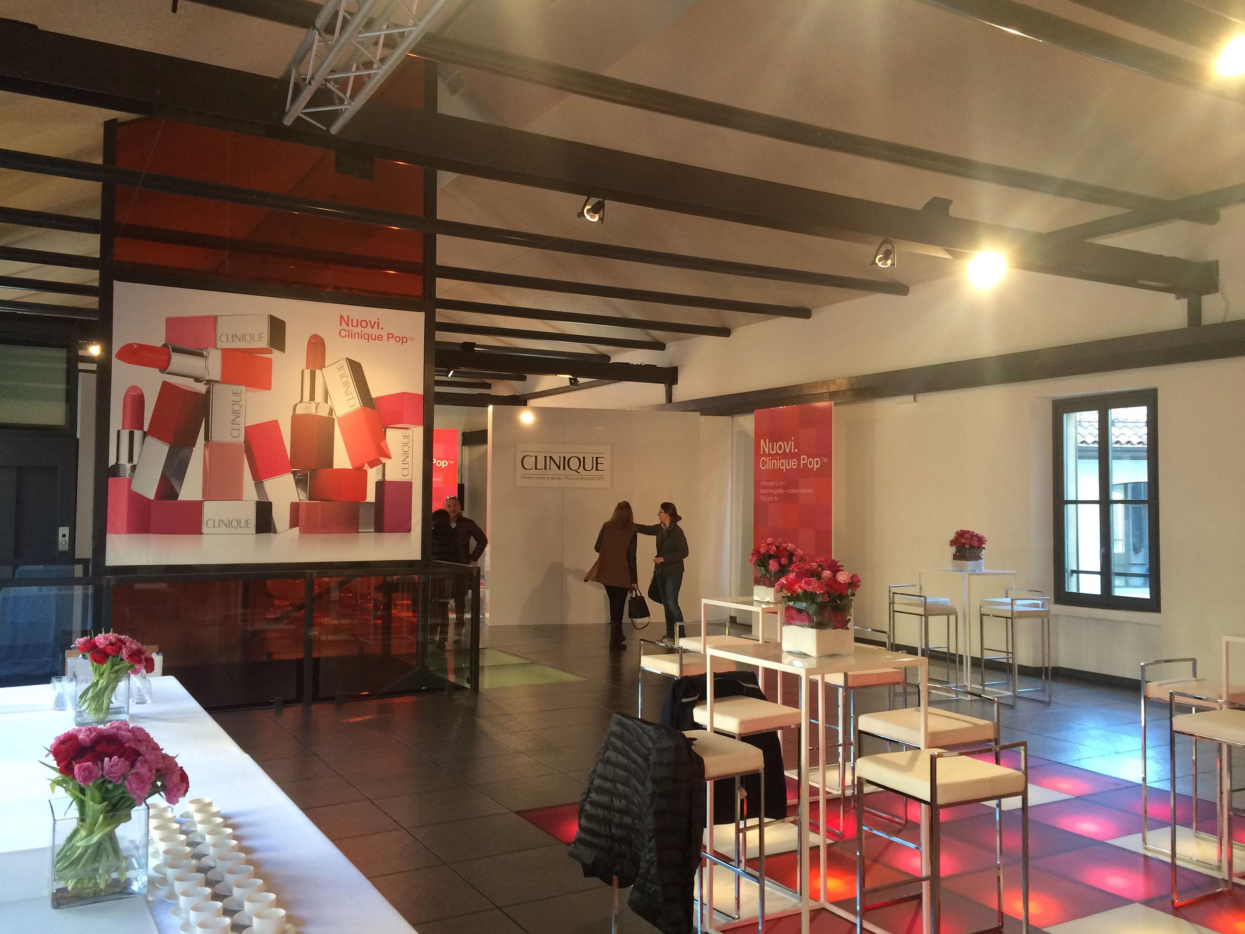 Evento stampa allestimento temporary Clinique Spazio Sirtori Milano 10