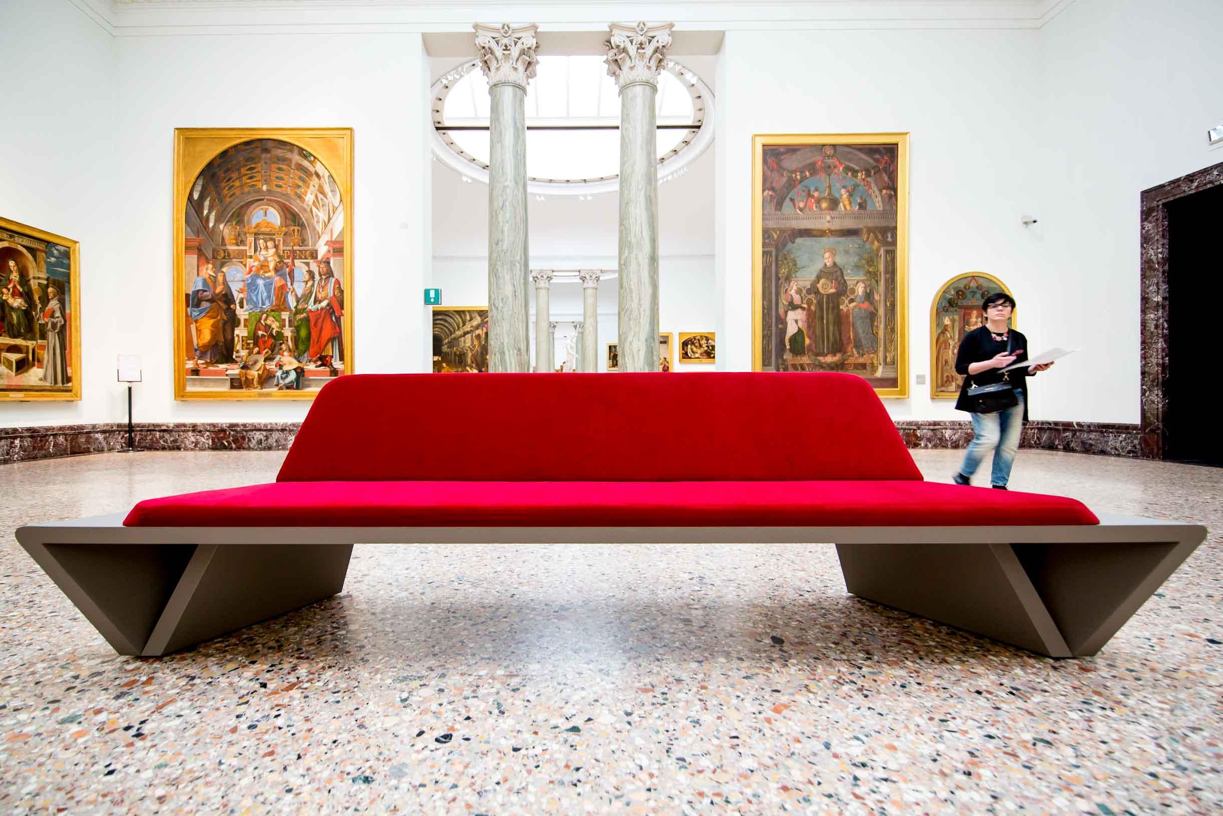 Arredo spazi museali Pinacoteca di Brera Milano