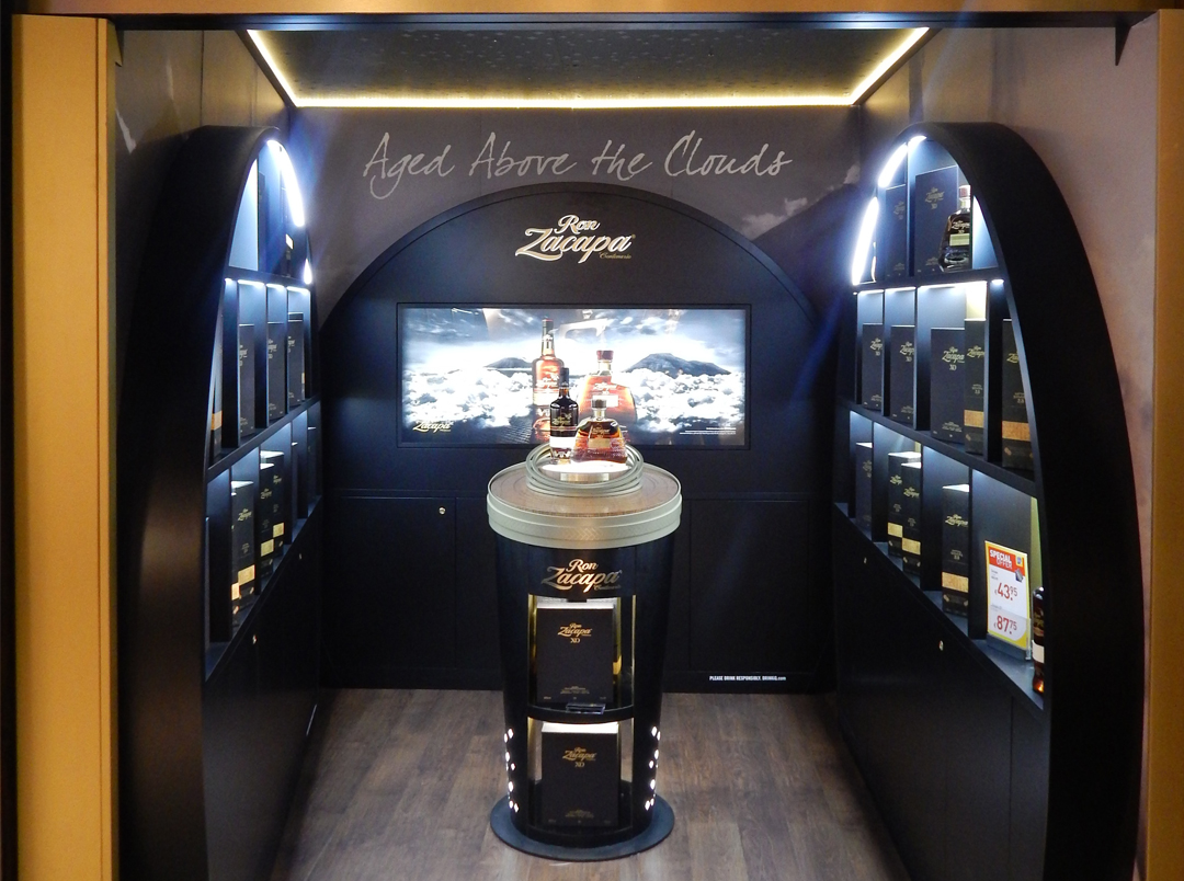 Ron Zacapa Travel Retail – Temporary pop-up store Amsterdam Airport