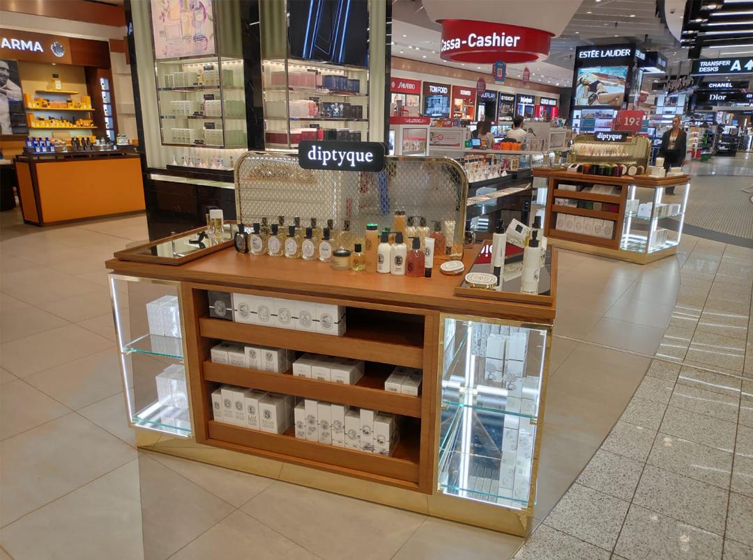 Allestimento Diptyque Travel Retail, Milano Malpensa