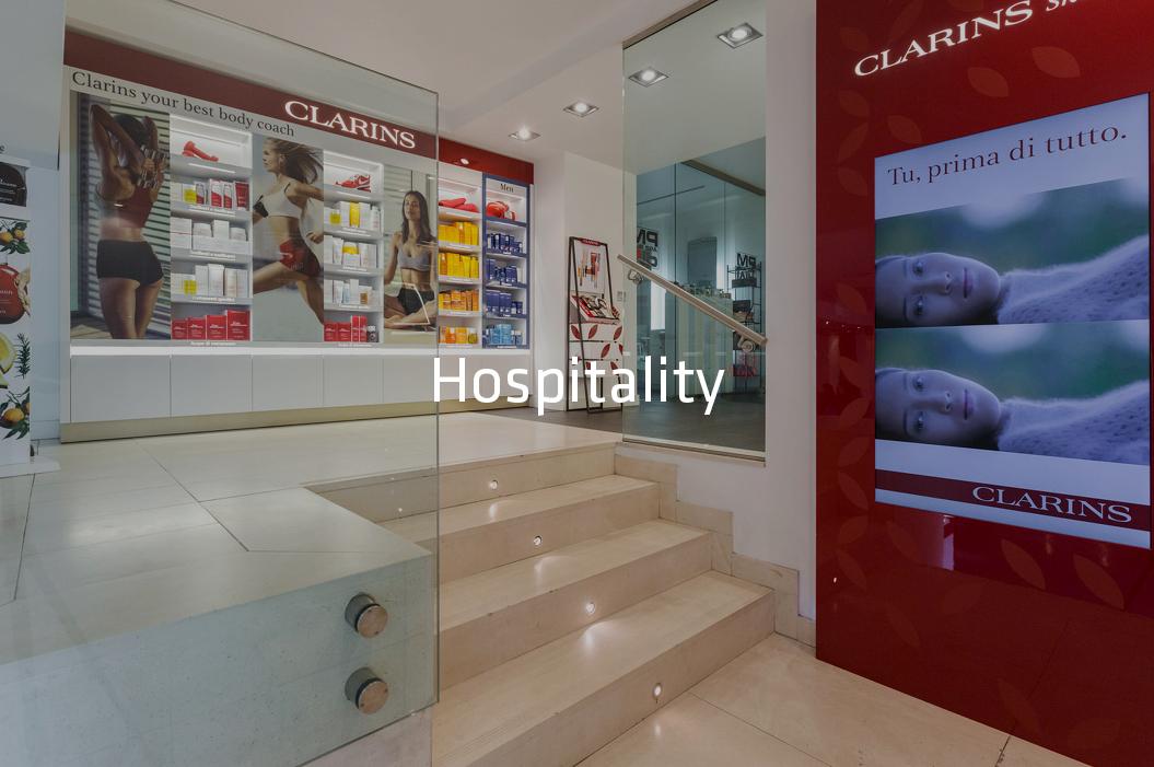 Clarins Virgin spa Milano General contractor hospitality soluzioni complete chiavi in mano